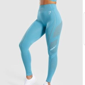 Gymshark Flawless knit tight sea blue small